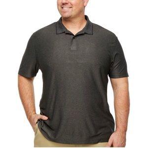 NEW Men's Big Size 3XLT Black / Gray SS Polo Shirt